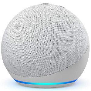 Altavoz Alexa blanco Echo Dot 4 generación, altavoz inteligente compatible con Alexa