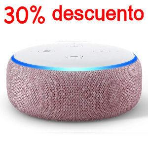 Altavoz Alexa blanco y malva con 30% de descuento