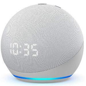 Altavoz Alexa con reloj, altavoz inteligente Echo Dot de 4 generación compatible con Alexa para controlar dispositivos con tu voz