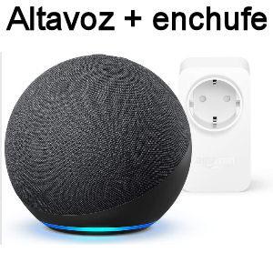 Altavoz Echo 4 generación con enchufe inteligente Amazon Smart plug compatible con Alexa