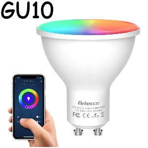 Bombilla inteligente Gu10 RGB de 5 W.