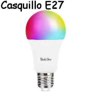 Bombilla inteligente LED de 9W con wifi, casquillo gordo E27, compatible con Alexa y Google Home