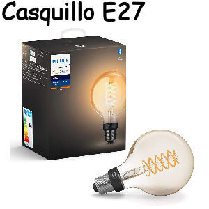 Bombilla inteligente Philips filamento Hue casquillo E27 compatible con Alexa y Google Home