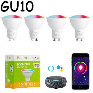 Bombillas Gu10 inteligente, pack de 4 bombillas de 5W.