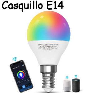 Bombillas inteligentes casquillo fino E14 compatibles con Alexa y Google Home