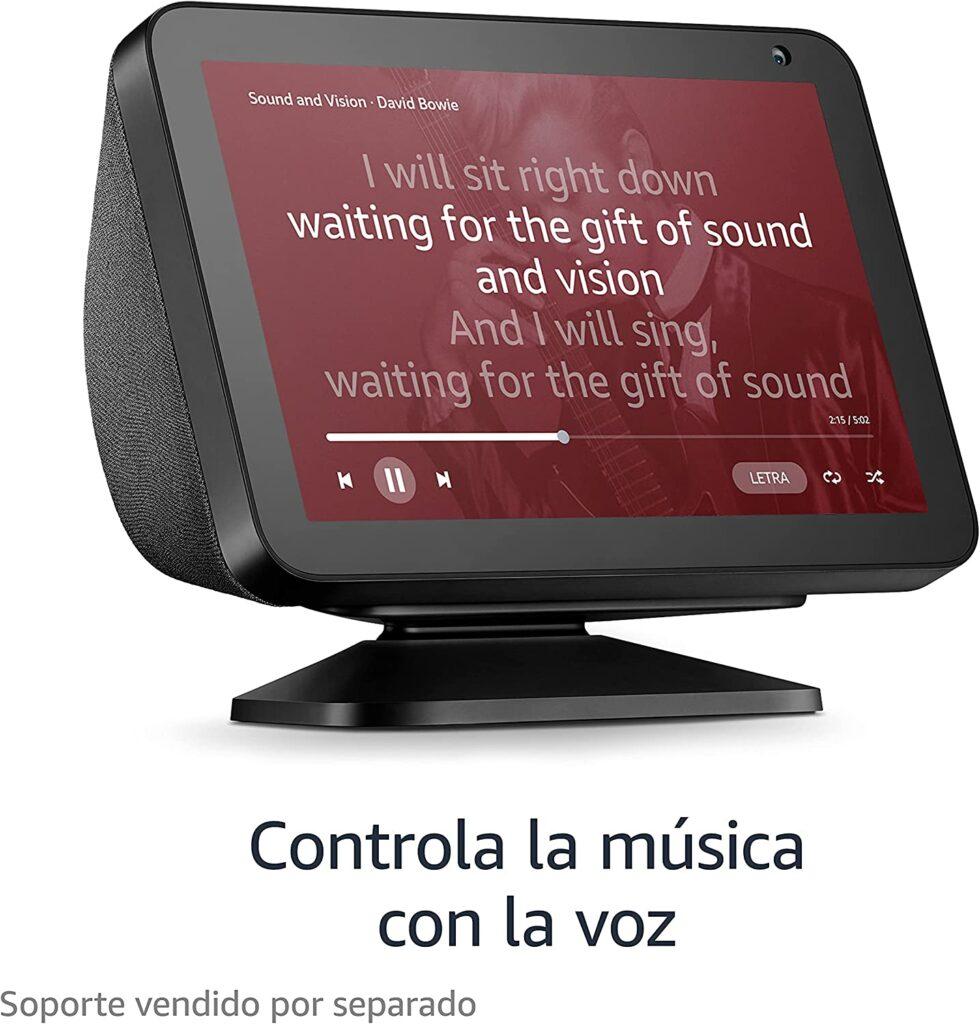 Controla la musica con la pantalla Alexa Eco Show