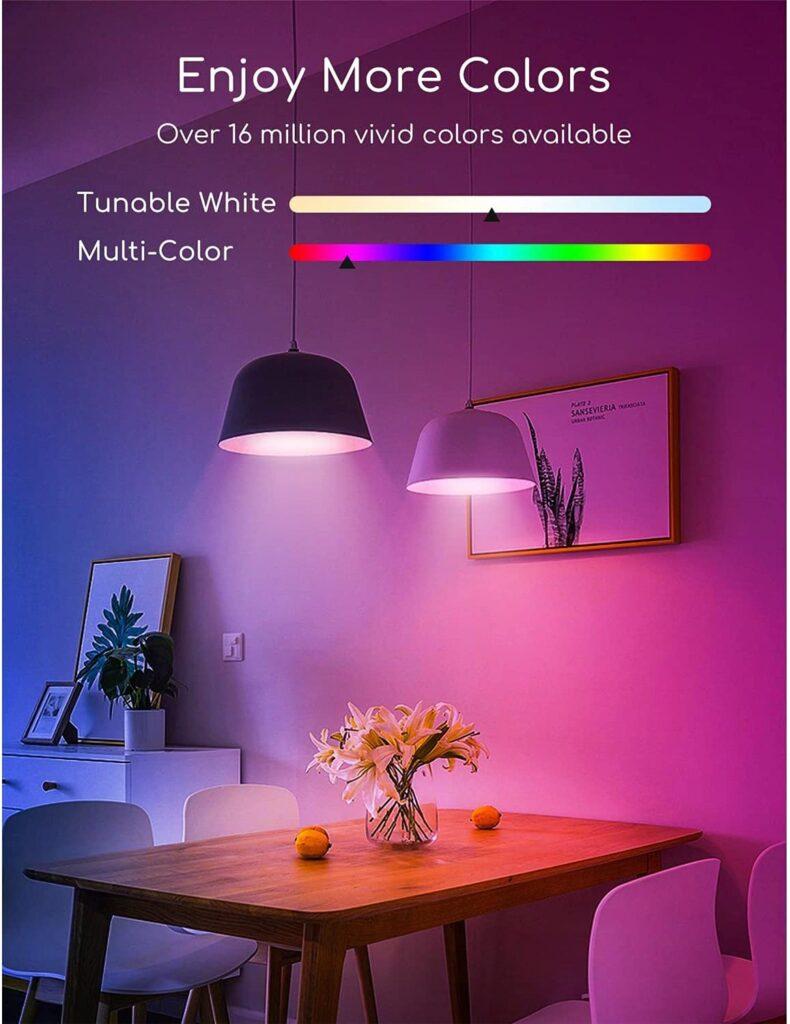 Elige los colores de las bombillas con la voz