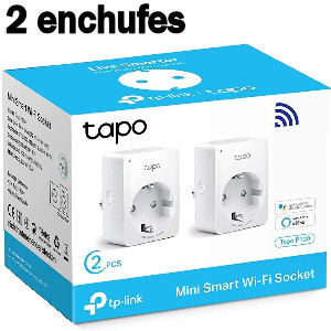 Enchufes Alexa, pack de 2 enchufes TP Link Tapo P100 con Wifi para encender, apagar y programar encendido con Alexa