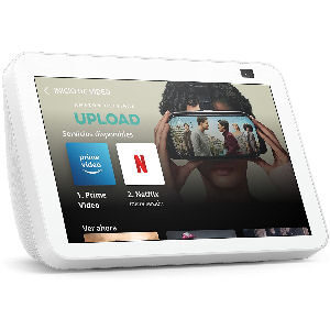 Nueva pantalla Alexa Echo Show 8 blanca de 2ª generación modelo del 2021, pantalla HD inteligente con Alexa y cámara de 13 MP