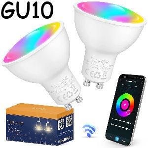 Pack de 2 bombillas GU10 inteligentes
