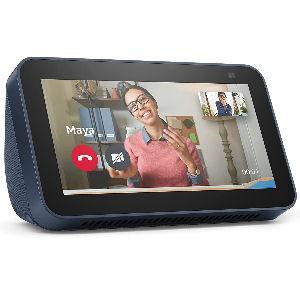 Pantalla Alexa Echo Show 5 azul de 2ª generación con cámara de 2 MP y asistente virtual Alexa