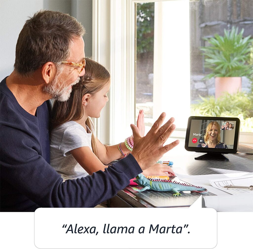 Pantalla Alexa para hacer videollamandas