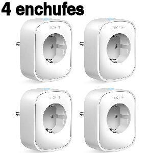Set de 4 enchufes inteligentes para controlar y medir el consumo de energía y ahorrar luz